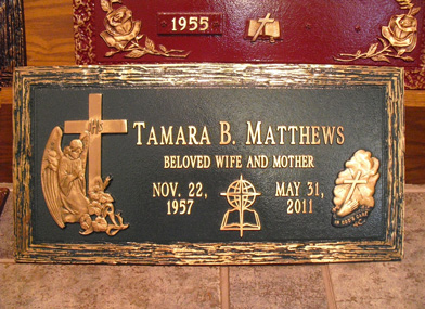 Graceland Cemetery in Milwaukee, WI Matthews marker example