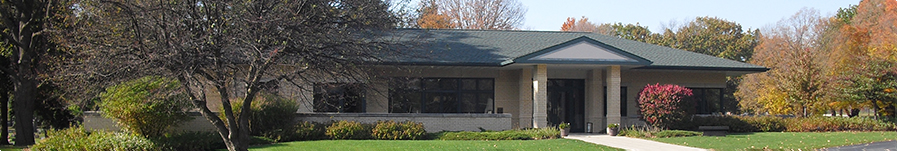 Shot of Graceland Cemetery offices
